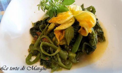 Foglie o talli di zucchine in padella…