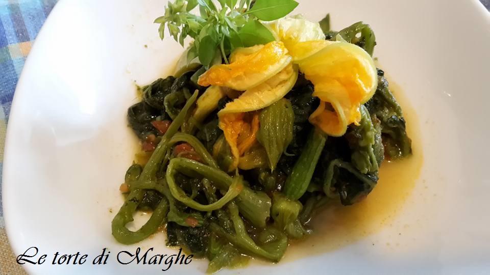 Foglie o talli di zucchine in padella le torte di marghe for Cucinare zucchine in padella