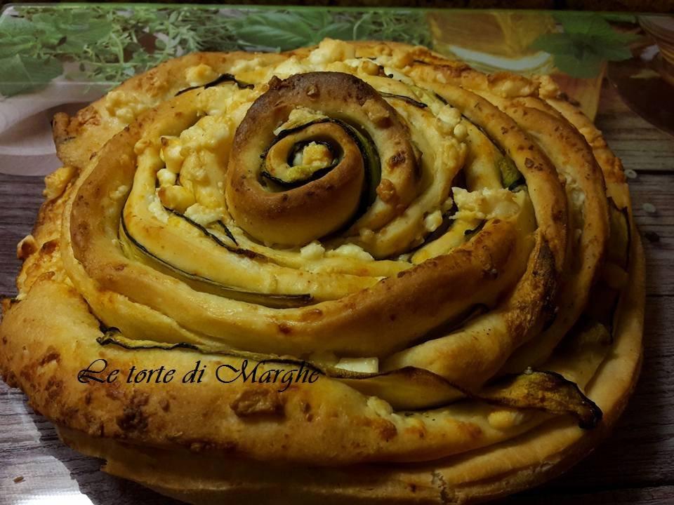 Rosa pan brioche con zucchine