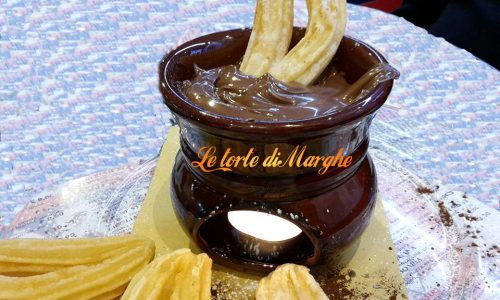 Churros con nutella calda