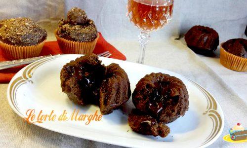 Cupcake con cuore di cioccolato