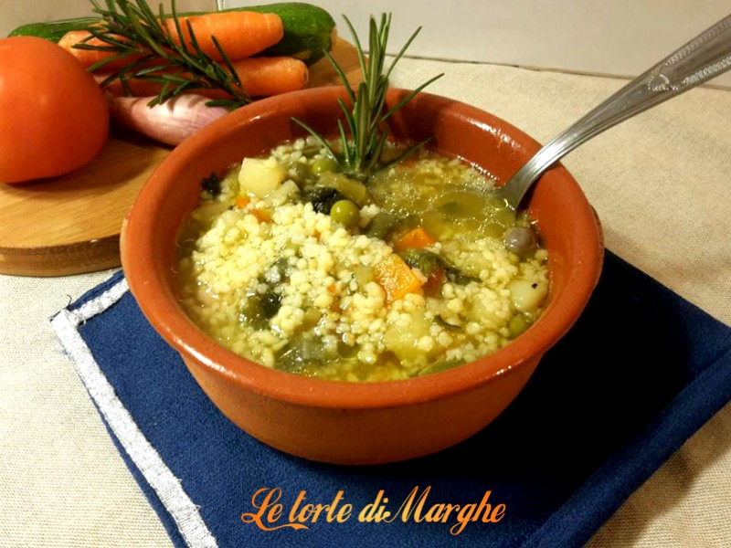 zuppa di verdure con fregola