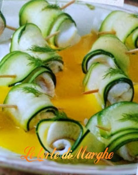 Involtini di platessa e zucchine
