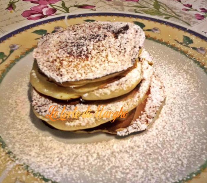Pancake con ripieno di nutella semplice da fare