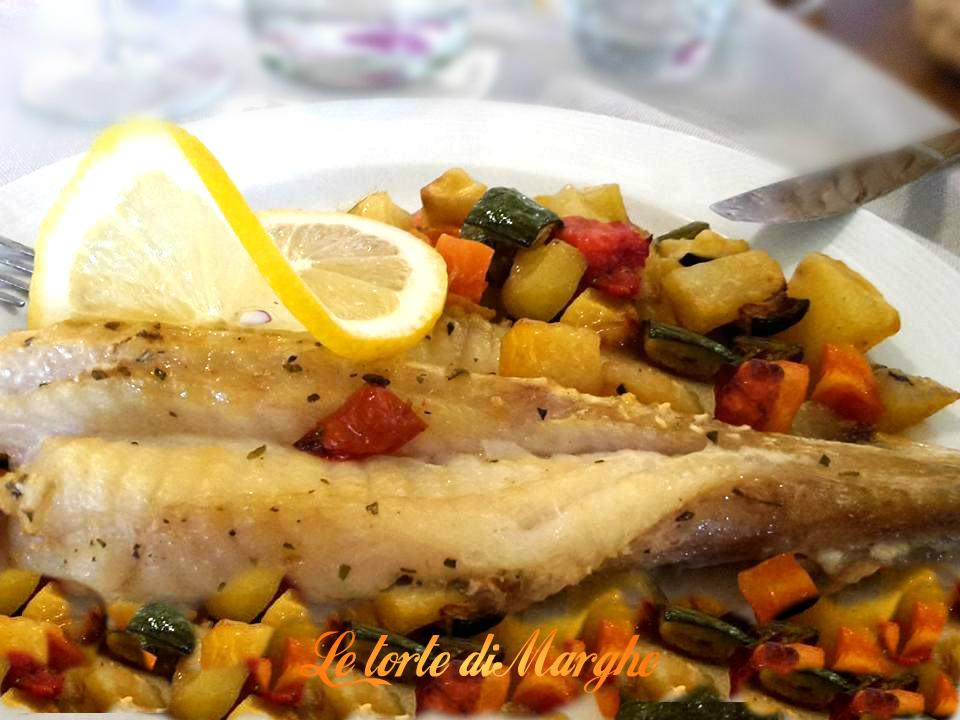 Coda di rospo al forno su letto di verdure le torte di for Cucinare rana pescatrice