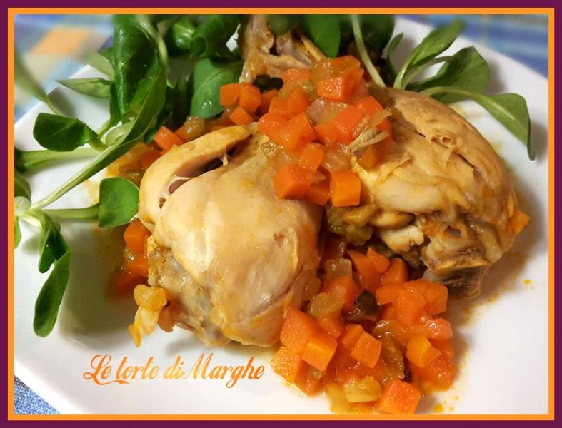 fusi di pollo con verdure