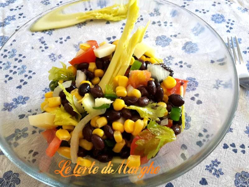 Popolare Insalata di fagioli neri con verdure | Le torte di Marghe SP33