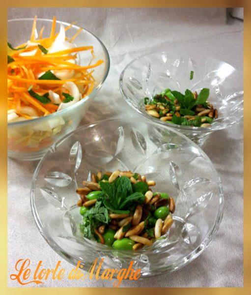 insalata di fave menta pinoli e pecorino
