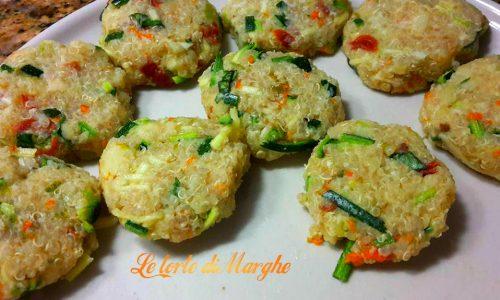 Polpette vegetariane con quinoa