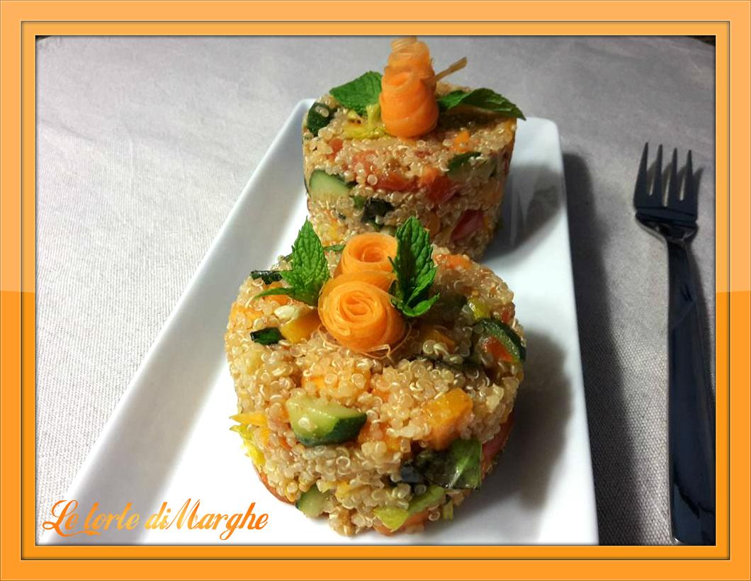 Quinoa con verdure di primavera