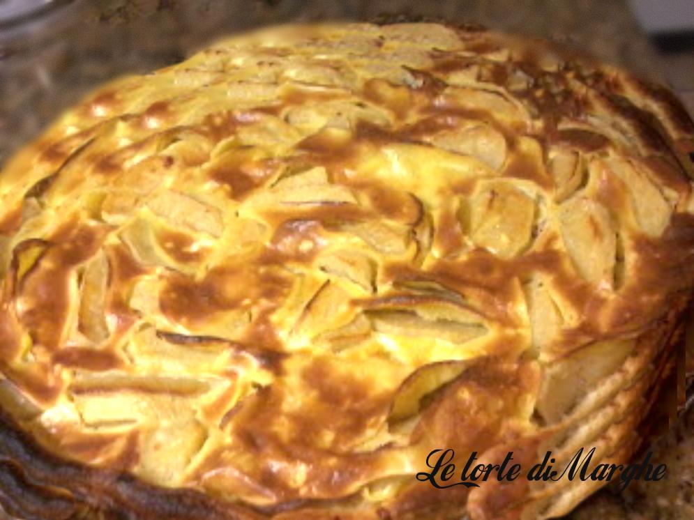 Clafoutis di mele con pasta sfoglia
