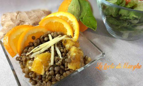 Insalata di lenticchie arancia e zenzero