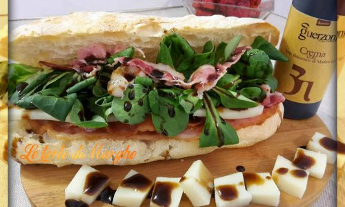 Panino con bacon croccante