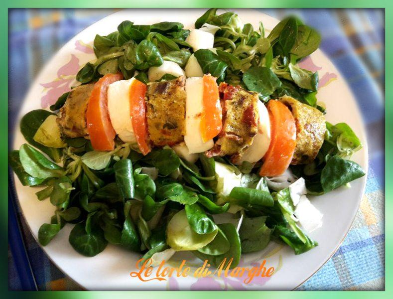 Rotolo di frittata e pomodori secchi le torte di marghe for Soncino insalata