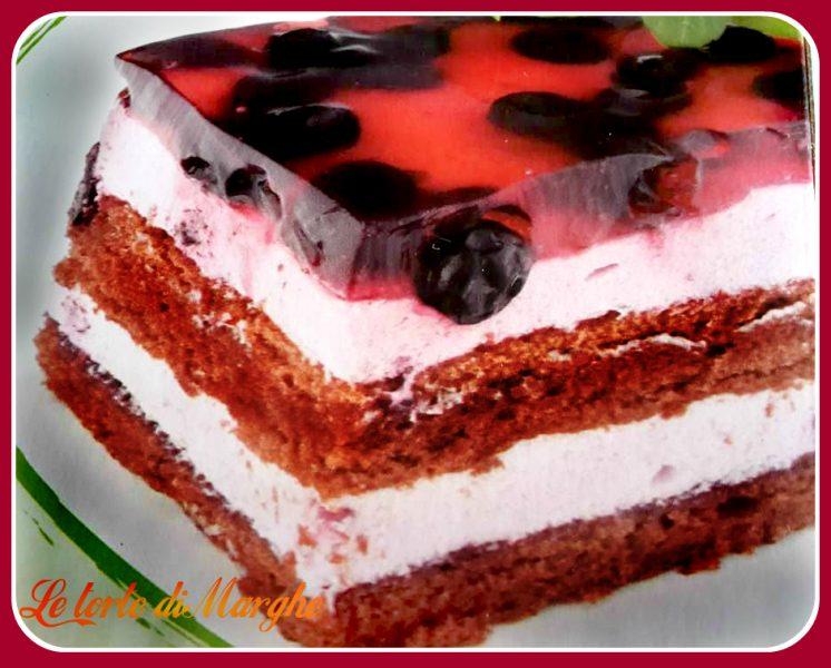 torta al cacao e liquore di ciliegie
