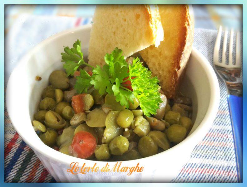 Zuppa piselli fave fresche al sapore di orto