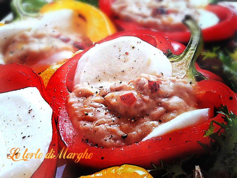 peperoni alla mozzarella e fagioli