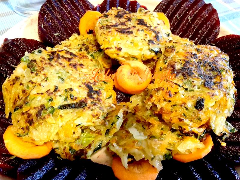 Rostì di patate zucchine e carote