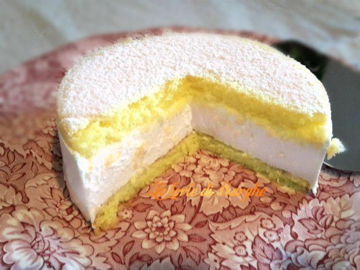 Torta con mousse di ricotta e pan di spagna le torte di - Differenza panna da cucina e panna fresca ...