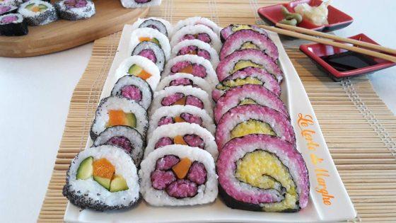 sushi con verdure e alga nori