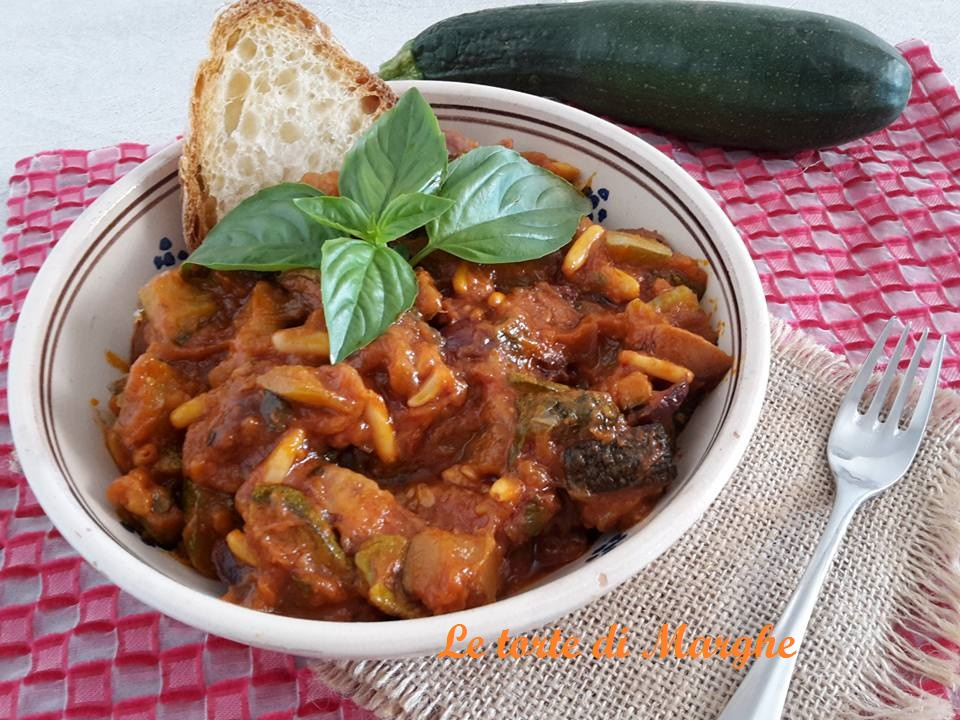 caponata di zucchine alla sicilana