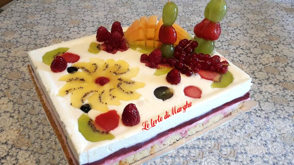 torta quadro d'autore con chantilly al limoncello