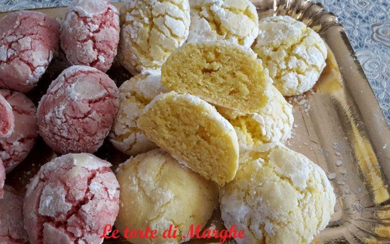 Biscotti al limone e succo di amarene morbidi