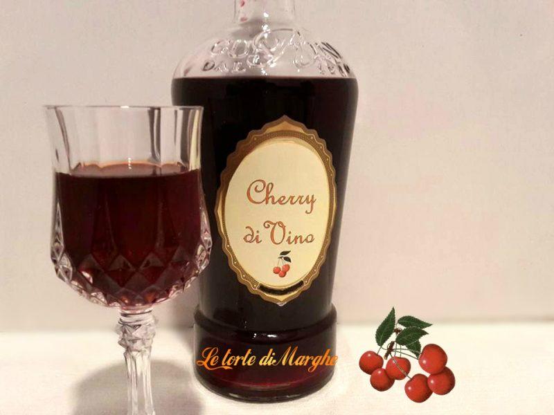 liquore allo fatto con vino rosso
