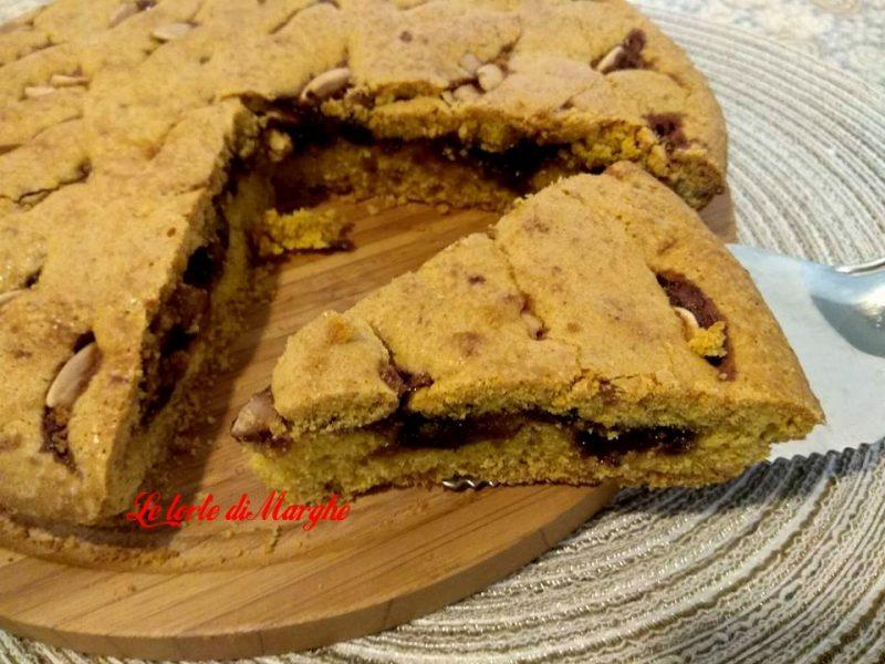 crostata morbida gluten free con confettura di ciliegie