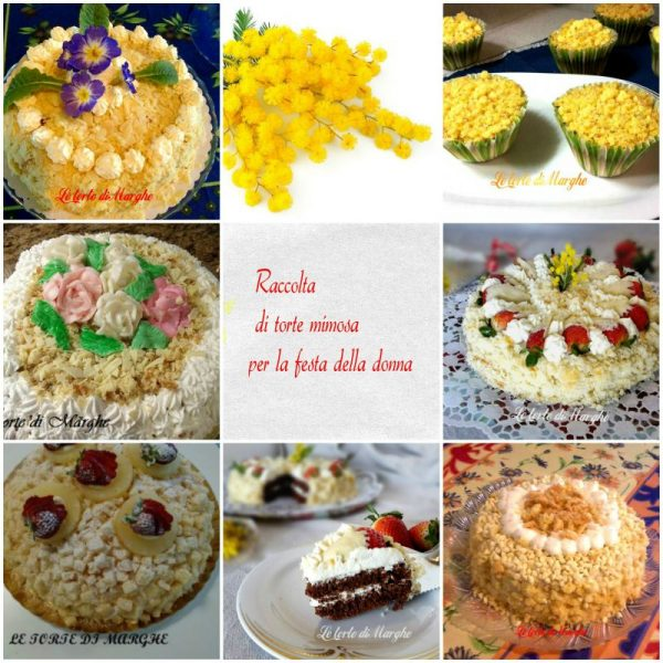 Raccolta di torte per la festa della donna