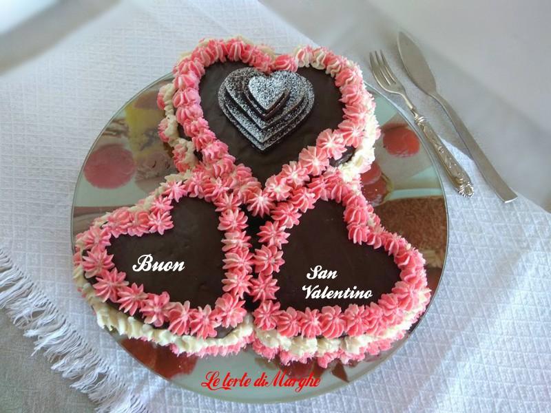 Torta cuore al cioccolato per san valentino