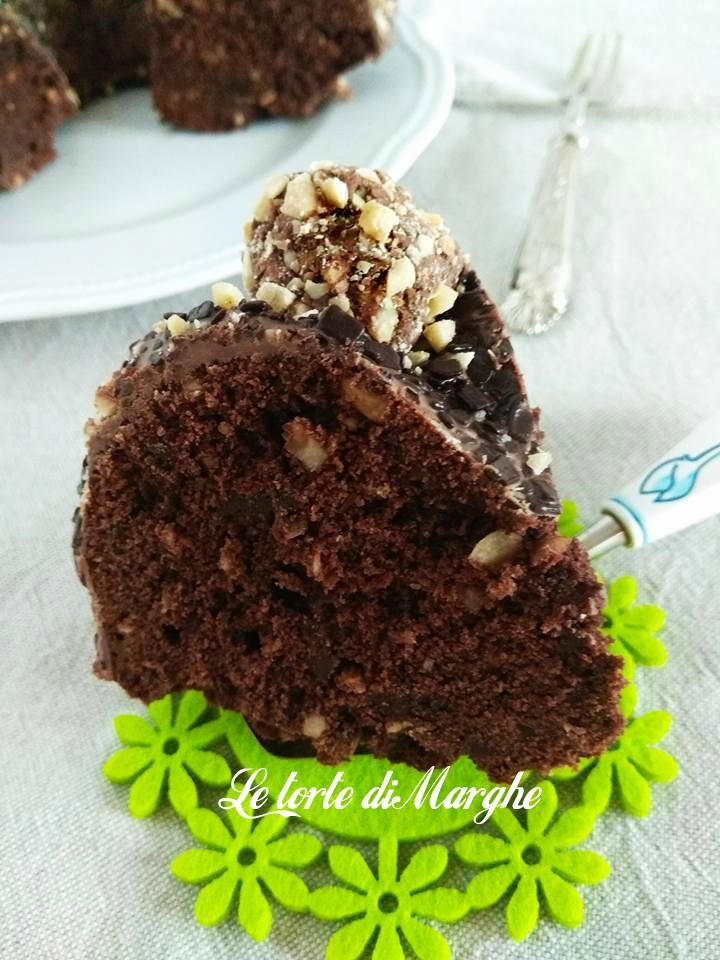 torta nocciole e cioccolato fondente