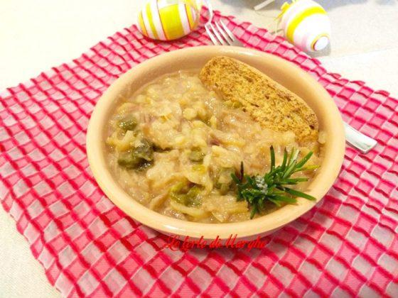 zuppa di cipolle di tropea e peperoni,