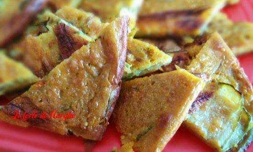 Farinata di zucchine al profumo di curcuma