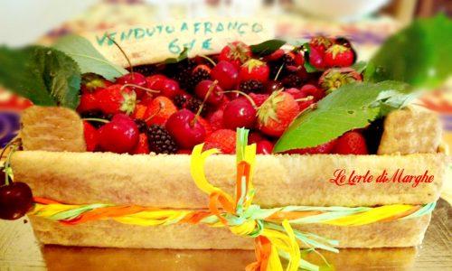 Torta cassetta di frutta per un compleanno originale