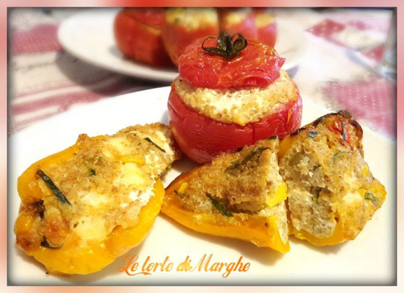 Pomodori e peperoni ripieni con quinoa