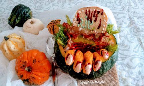 Vellutata di zucca con pancetta per halloween