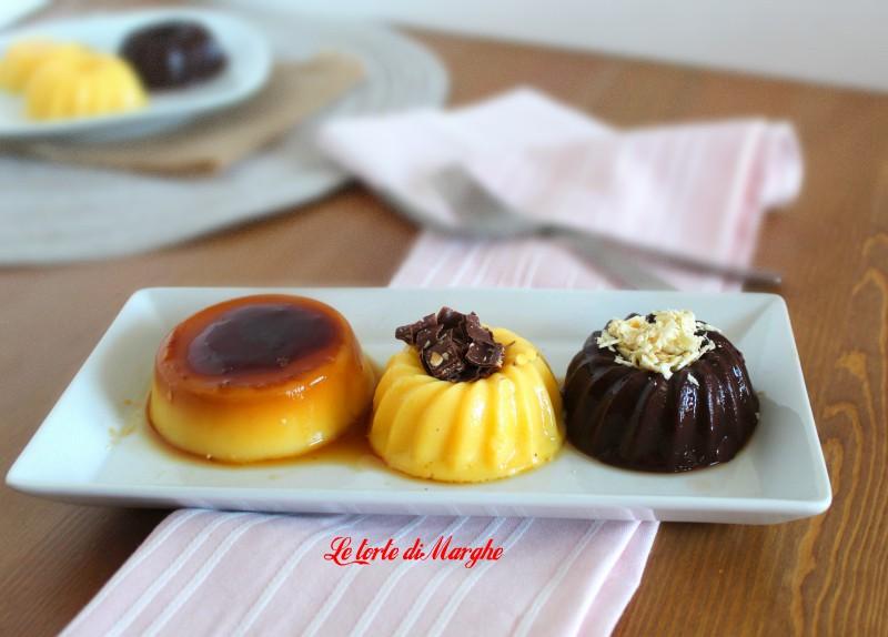Budino al cioccolato vaniglia e caramello