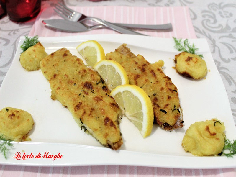 Filetti di nasello gratinati con le patate