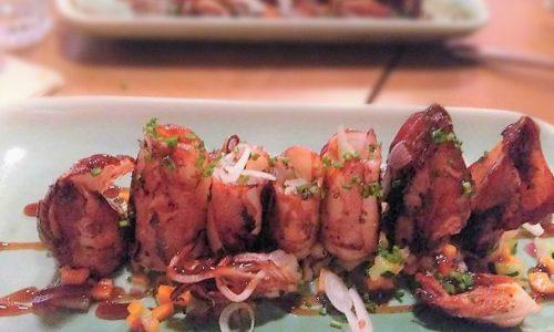 Calamari ripieni di verdure passati al forno