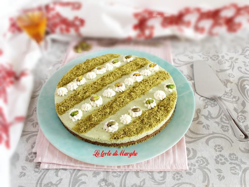 Cheesecake di ricotta al pistacchio