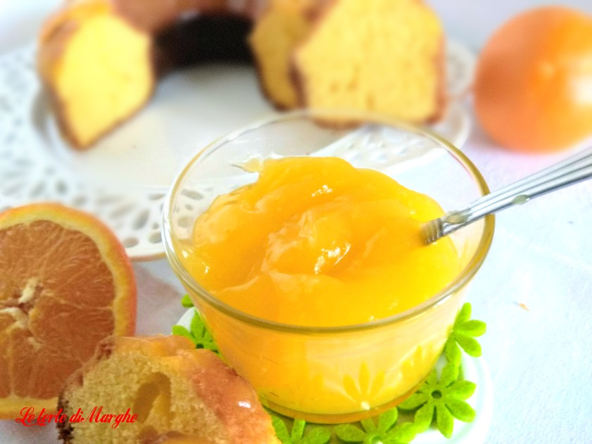 Crema all'arancia Orange curd senza uova e burro