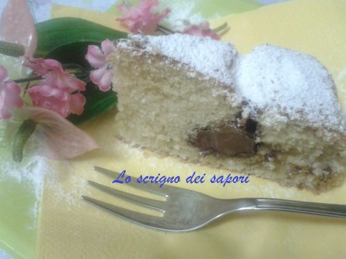 Golosa torta di farro, cocco e Nutella