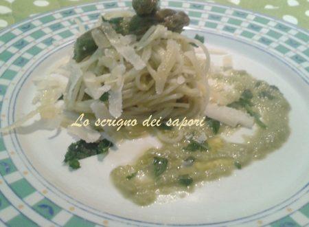 Spaghetti in crema di asparagi