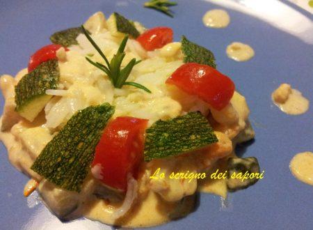 Riso, zucchine e gamberetti