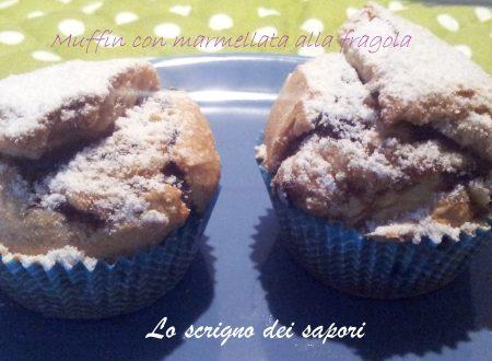 Muffin con marmellata alla fragola