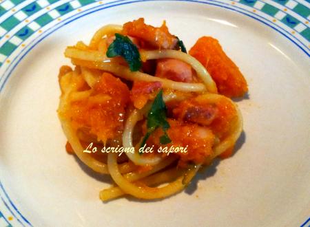 Spaghetti zucca e pancetta