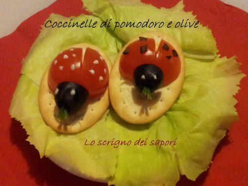Coccinelle di pomodoro e olive