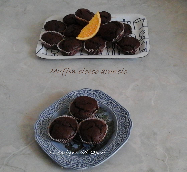 Muffin ciocco arancio senza uova, burro e latte