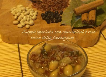 Zuppa speziata con cannellini e riso rosso